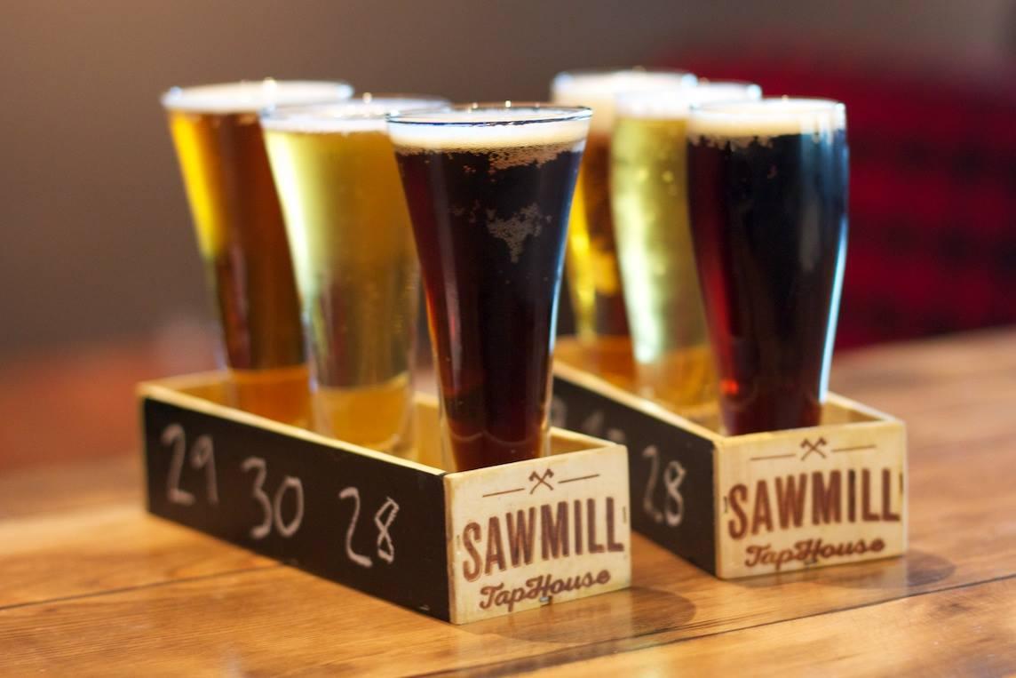 SawMill Beer Flights