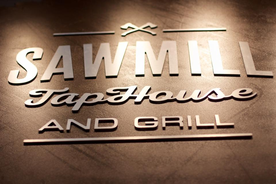 SawMill Taphouse Sign